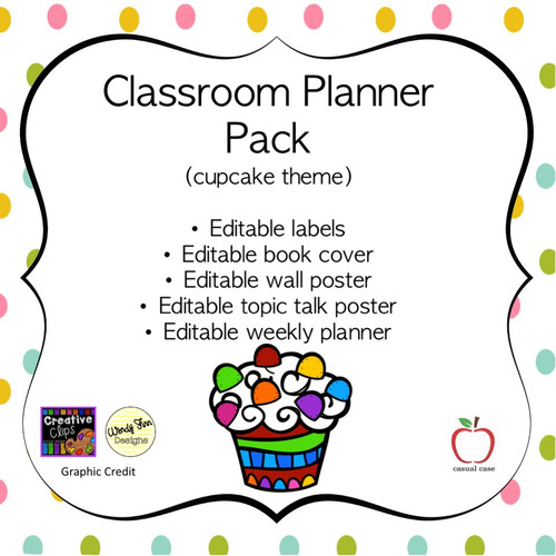 Cupcake Classroom Planner Pack