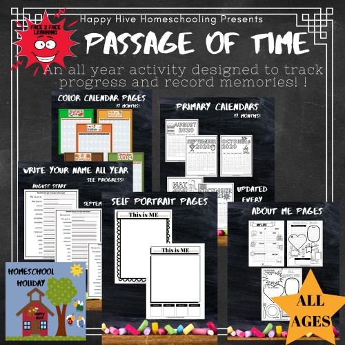 The Passage of Time - Year Long Memory Book= Calendar Activities and MORE!