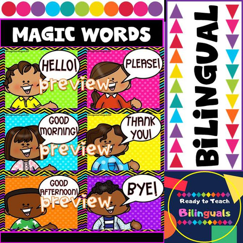 Magic Words / Palabras Mágicas Posters - Bilingual Set