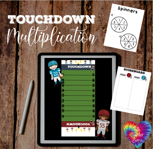 Touchdown Multiplication (Remote Ready, Face to Face Ready)