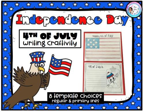 4th of July Writing Craftivity