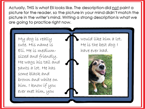 Google Slides Digital Descriptive Writing: Painting a Picture for Your Readers