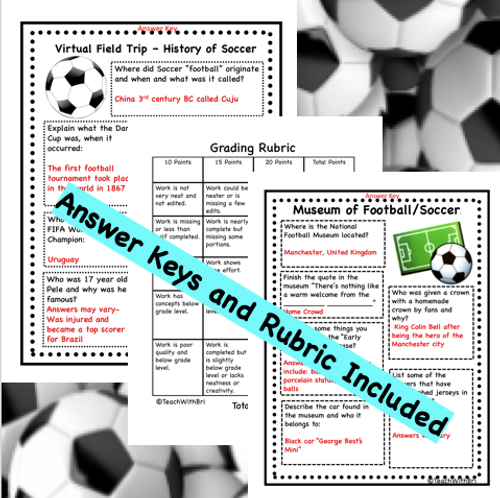 Virtual Field Trip to the Soccer  Stadium- History and About the Game- Distance PE Lesson