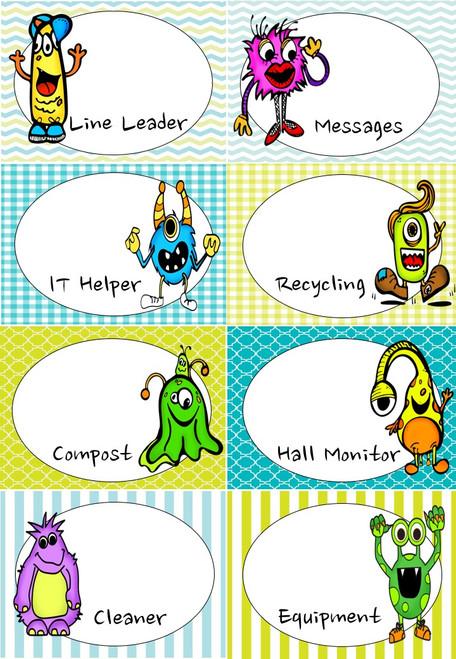 Monster Classroom Helper Chart