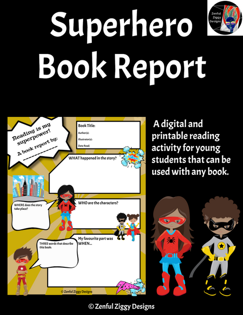 Superhero Book Report 1