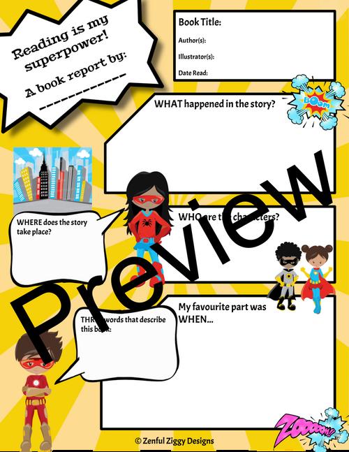 Superhero Book Report 1