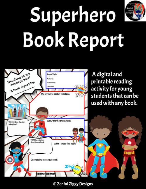 Superhero Book Report 2
