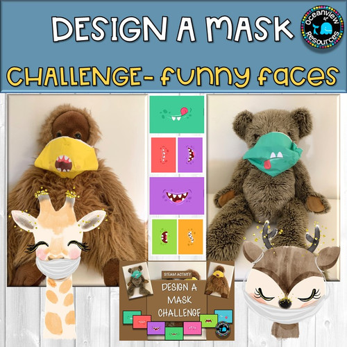 Design a Mask Challenge- FUNNY FACES