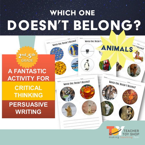 Which One Doesn't Belong? ANIMALS - FREE