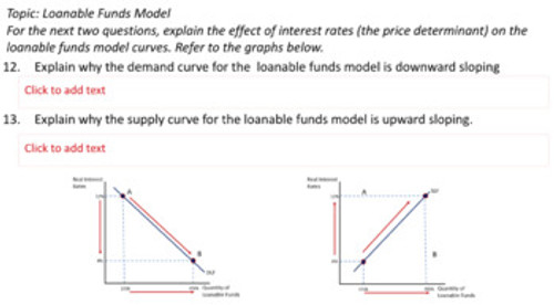 Loanable Funds Worksheet 50 Problems Distance Learning Covid-19 Google Slides