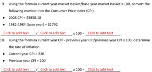 Inflation CPI Worksheet, 27 Problem Sets Distance Learning Covid-19 Google