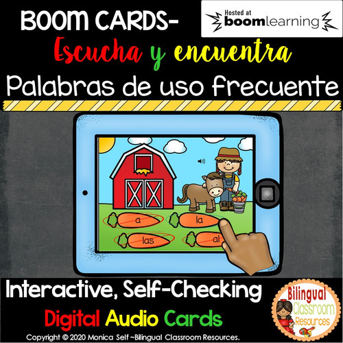BOOM Cards High Frequency Words in Spanish- Palabras de uso frecuente