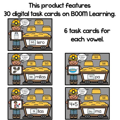 BOOM Cards Sílabas iniciales-sa, se, si, so, su (Distance Learning)