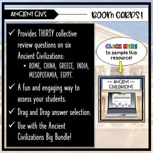 Ancient Civilizations BOOM CARDS Review Deck!