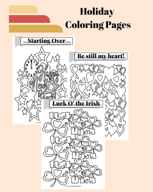 Coloring Page Bundle - Detailed Designs (Holiday ) & Medallions