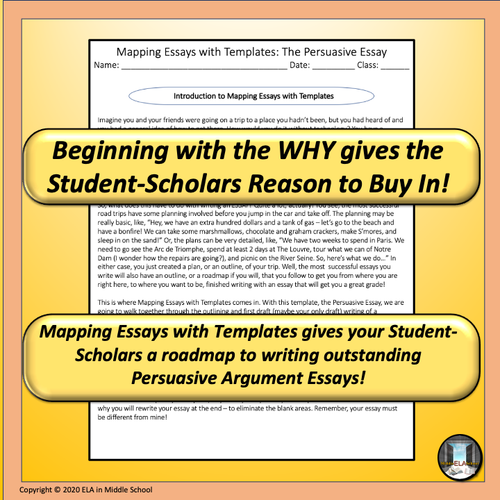 Mapping Essays with Templates: The Informational Essay Remote Ready Resource