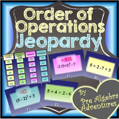 Order of Operations 6 Activity Bundle