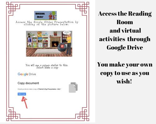 Baseball Virtual Classroom / Reading Room with Choice Board Activities