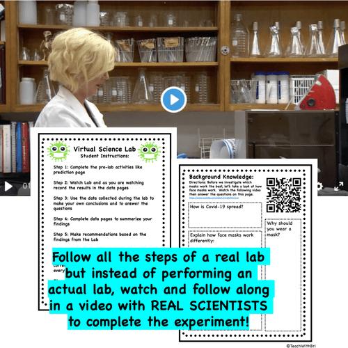 Digital Version-  Virtual Science Lab- Face Mask Science