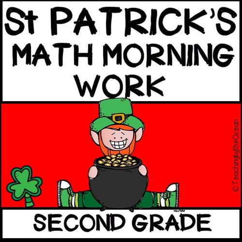 2nd Grade Morning Work - Math - St. Patrick's