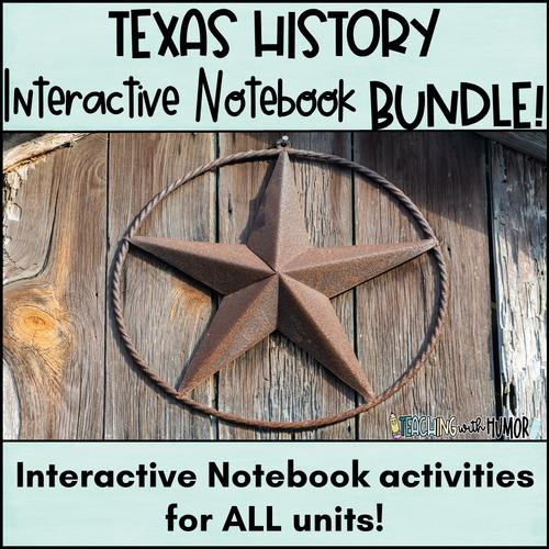 Texas History INTERACTIVE NOTEBOOK **BUNDLE**