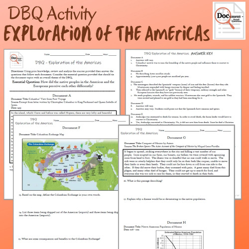 DBQ: Exploration of the Americas