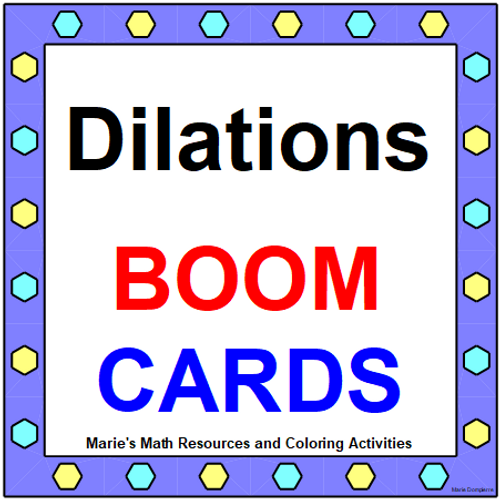TRANSFORMATIONS (DILATIONS): GOOGLE FORMS QUIZ (PROB. 20) DISTANCE LEARNING