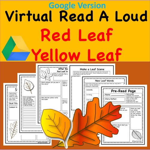 Virtual Read-A-Loud-  Red Leaf Yellow Leaf - Digital and PDF Included