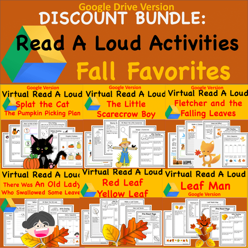 Discount Bundle- Fall Favorite Books Read Aloud Activities- Digital and PDF Versions of All