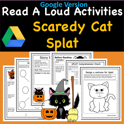 Read-A-Loud Activities- Scaredy Cat Splat - Includes Both Digital and PDF Versions