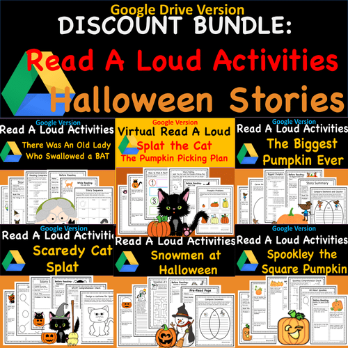 Bundle- Favorite Halloween Stories- Read Aloud Activities- Digital and PDF Versions of All 6 Lessons!