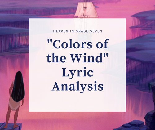Colors of the Wind - Lyric Analysis