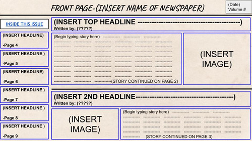 Virtual Interactive Newspaper Project!