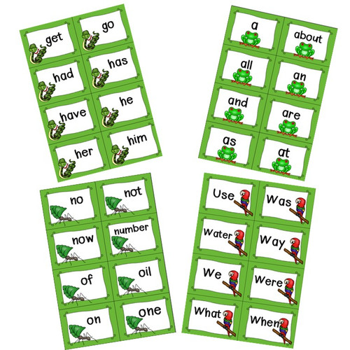 Fry's Sight Words Cards - Animals Themed (first hundred)