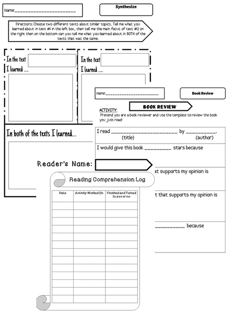 Nonfiction Reading Standards Choice Board