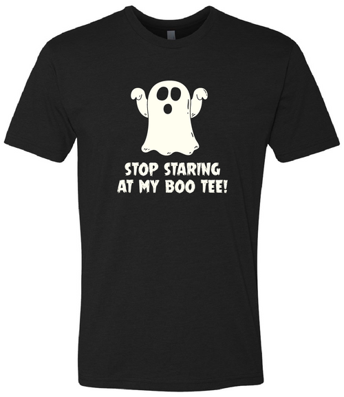 """Stop staring at my Boo Tee!"" Crew Tee"