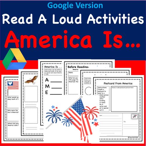 Digital Version -  Read-A-Loud Tasks- USA Stories - American Is Story