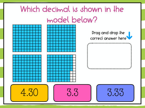 Add and Subtract Decimals Digital Boom Cards for Distance Learning