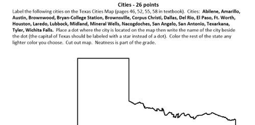 Texas Regions Portfolio Book Project