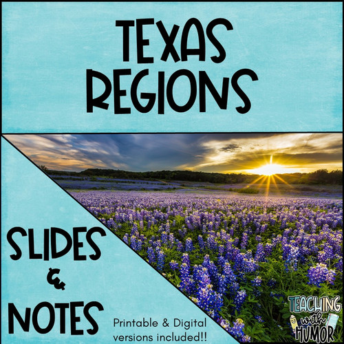 Texas Regions Slides & Notes - Regions of Texas distance learning options!