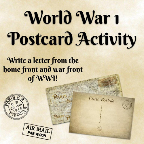 World War I Postcard Activity