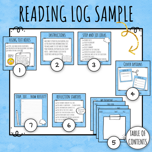 Digital Reading Log for Nonfiction Text