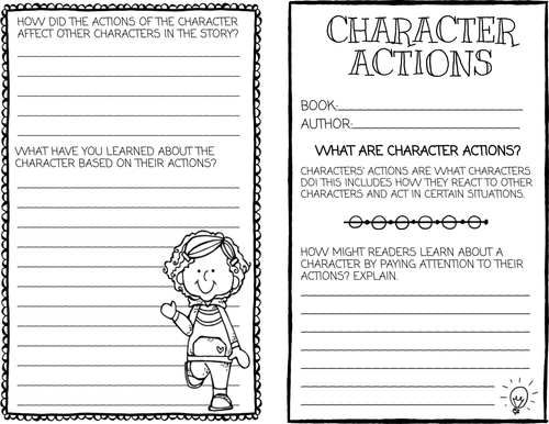 Character Traits Reading Brochure Activities