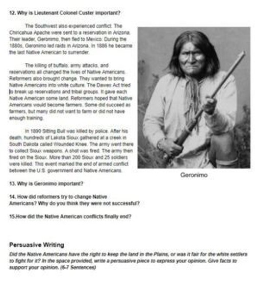 Native Americans and Westward Expansion Distance Learning