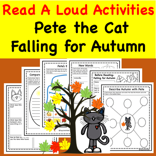 Read-A-Loud Tasks- Pete the Cat Falling for Autumn