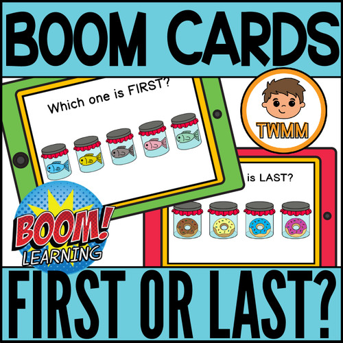 First or Last? l Comparing Positions l Basic Concepts Math Boom Cards
