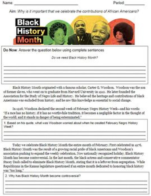 Introduction to Black History Month
