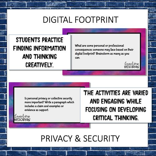 Digital Citizenship Task Cards 26 activities