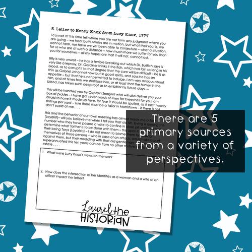 American Revolutionary War Perspectives - Historical Thinking