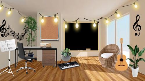 Bitmoji Classroom Editable (Music Room)